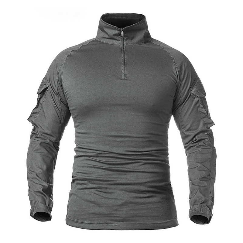 Тактическая рубашка Lesko A655 Gray XL кофта с длинным рукавом камуфляжная армейская