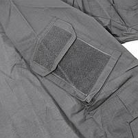 Тактическая рубашка Lesko A655 Gray XL кофта с длинным рукавом камуфляжная армейская, фото 4