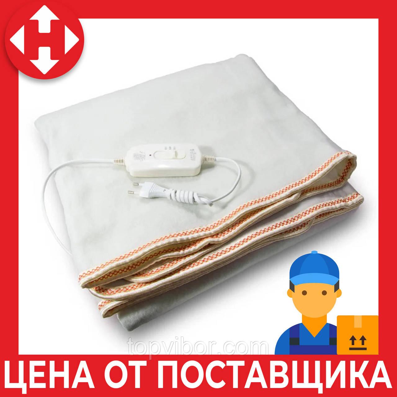 Электроодеяло Electric Blanket (100 W, 150х155 см) Оранж, простынь с подогревом, электро одеяло