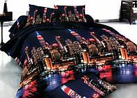 Постельный набор Двухспальный комплект постельного белья бязь175х215 см город