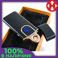 Электрозажигалка спиральная аккумуляторная Classic Fashionable, Черная Глянец, USB зажигалка, 6746, фото 1