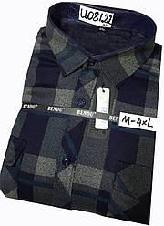 Теплая рубашка на флисе Bendu classik - 8122