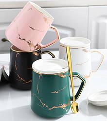 Керамічна мармурова чашка. Модель 3671