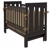Кроватка для новорожденных Woodman Oskar (маятник), цвет шоколад