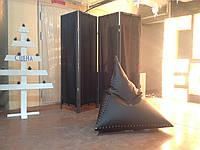 Мебель лофт черная ширма из дерева и ткани