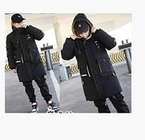 Эффектная, качественная водонепроницаемая зимняя курточка на р 152-170