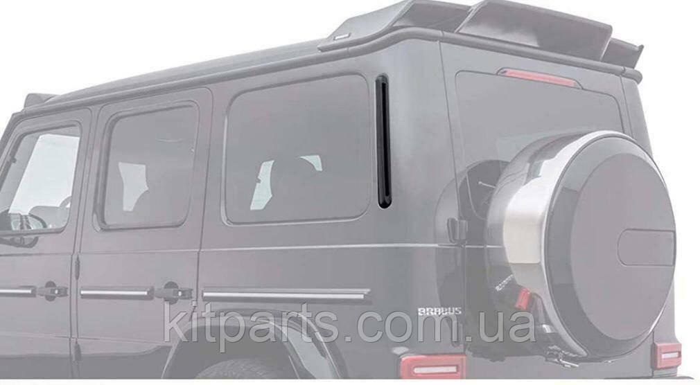 Карбоновые накладки на заднее стекло воздухозаборники W463A G63 G500 W464 G Wagon Mercedes 2018+ Brabus