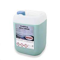 Полироль для пластика Sipom PLASTICA Profumo Mela Verde матовый (Зеленое Яблоко), Канистра 10кг