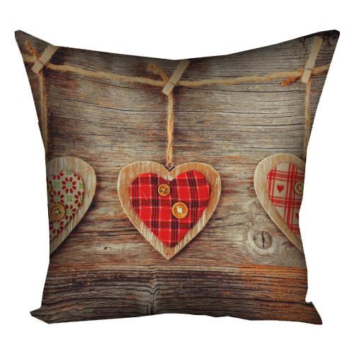 Подушка с принтом Сердце 40x40 см (4P_LP265)