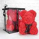 Мишка из 3D роз 40см в Коробке (Розовый) СКИДКА, фото 5