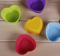 Силіконова форма для кексу Серце / Силиконовая форма для кекса Сердечко (для выпечки охлаждения замораживания)