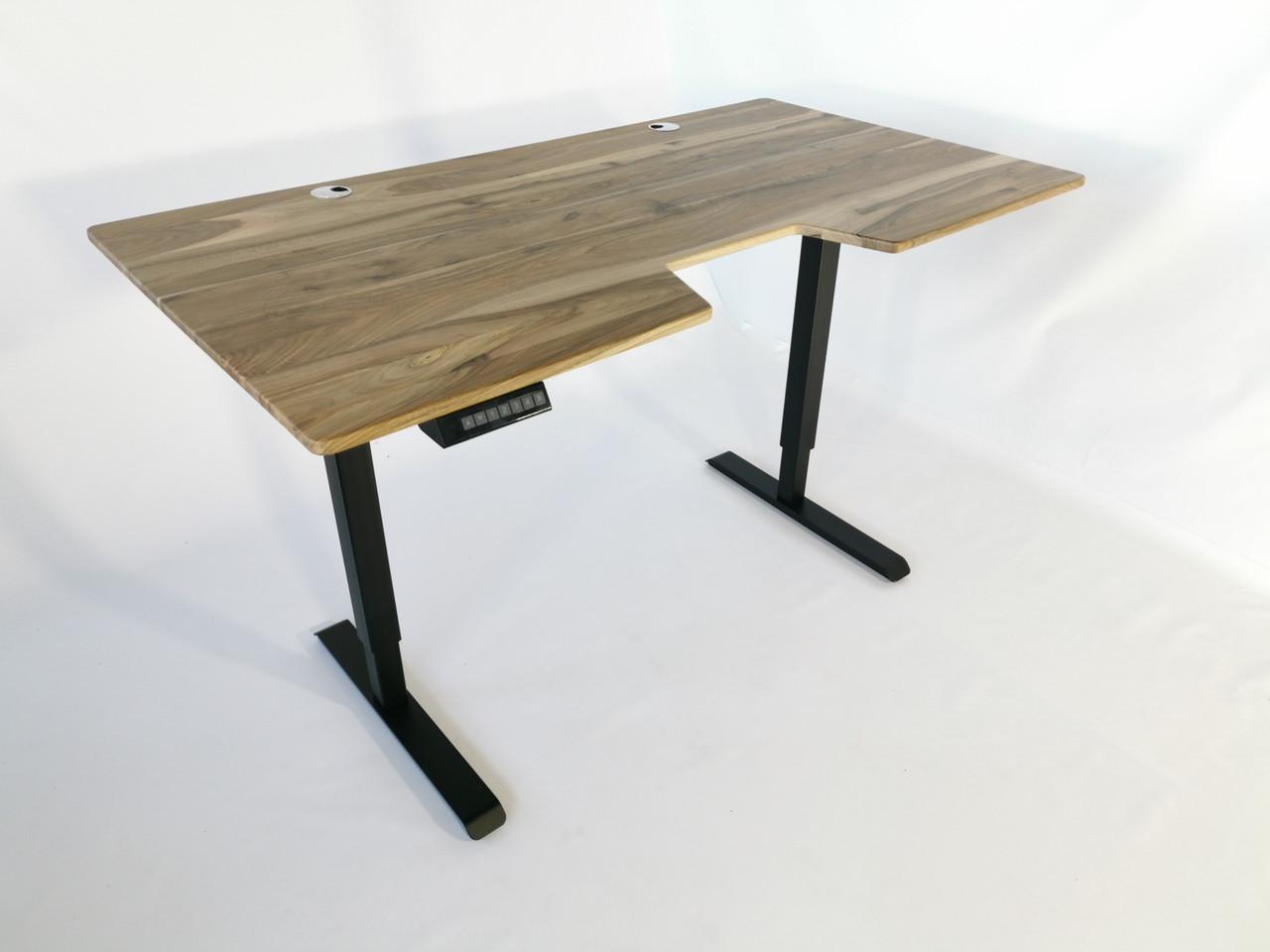 Стол с регулируемой высотой TehnoTable strong wood орех