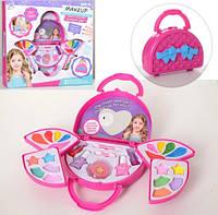 Детская косметика в сумочке 2958A : тени, помада, лаки - набор декоративной детской косметики для девочки
