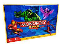 Монополія Junior для Дітей аналог Hasbro Монополія Джуніор Марвел