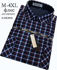Теплая рубашка на флисе Bendu classik в клетку - 906
