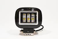Дополнительная светодиодная LED фара 45Вт Квадратная (Black)+ Ангельский Глаз Четкой световой теневой границей
