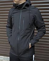 Куртка мужская черная от бренда ТУР модель Риктус (Rictus) размер: S, M, L, XL, XXL