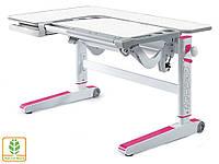 Детский столик-парта Kingwood цвет столешницы - белый | розовые накладки