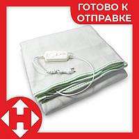 Электроодеяло Electric Blanket (100 W, 150х155 см) Зеленое, простынь с подогревом, электро одеяло, фото 1