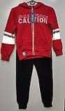 Спортивный костюм на мальчика теплый GRACE арт 86976 красный с синим 134-152 р., фото 3