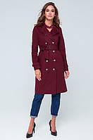Зимняя куртка, плащ осенний для женщин, весенний плащ двуоборотный, бордовая осенняя одежда.