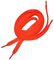 Шнурки в кроссовки плоские 100см Ярко-оранжевый