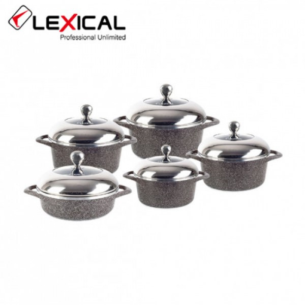 Набор кастрюль с крышками Lexical LG-141001-2 10 предметов