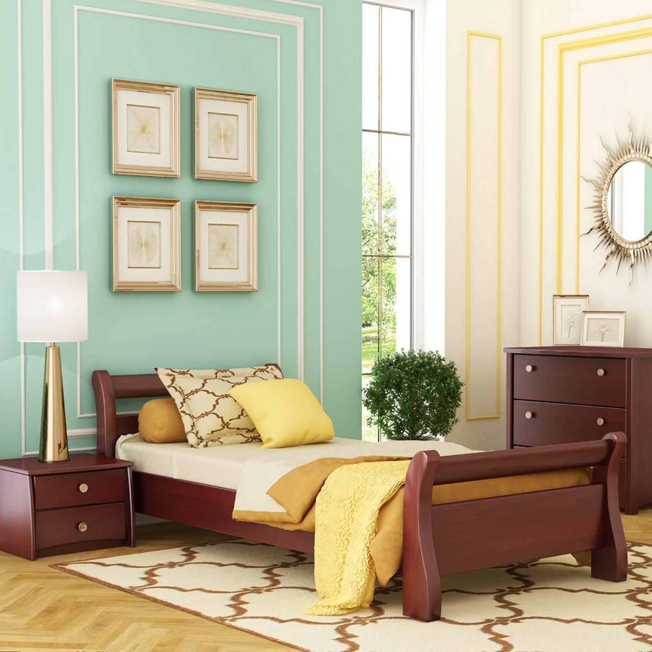 Ліжко дерев'яне односпальне Діана (бук)
