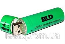 Аккумулятор 18650 (BLD Li-ion 3.7v 3800mah Green) АКБ батарея с USB зарядкой для фонарика, вейпа, шуруповерта