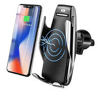 Автомобильный сенсорный держатель с беспроводной зарядкой Penguin Smart Sensor S5 универсальный для телефона
