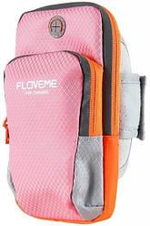 "Спортивный чехол для телефона Floveme (до 6"") - Pink"