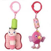 Мягкая игрушка подвеска Bright Starts - Звонкий дружок (pink)