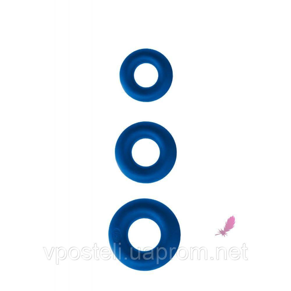 Набор эрекционных колец Renegade Power Rings Blue NS Novelties