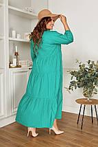 """Хлопковое расклешенное миди-платье """"Lorena"""" с четвертным рукавом (большие размеры), фото 3"""