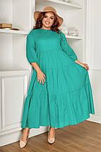 """Хлопковое расклешенное миди-платье """"Lorena"""" с четвертным рукавом (большие размеры), фото 2"""