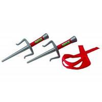 Набор игрушечного оружия серии Черепашки - ниндзя  - боевое снаряжение Рафаэль (2 кинжала-сай, бандана)