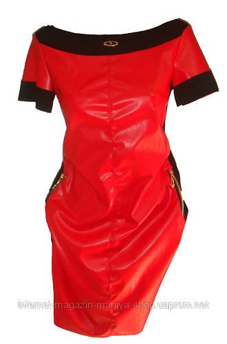 Женское платье кож зам