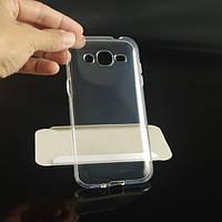 Ультратонкий 0,3 мм чохол для Samsung Galaxy J2 Duos J200 прозорий, фото 1