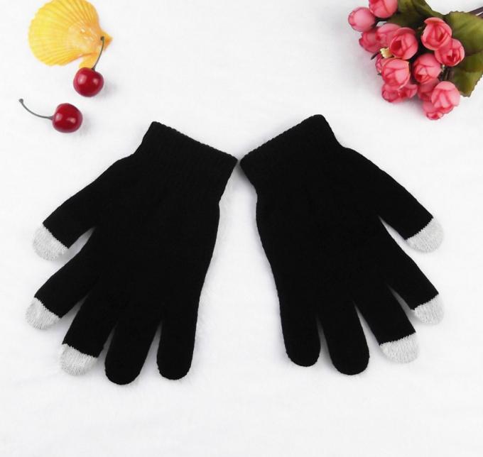 Перчатки для сенсорных экранов (черные)