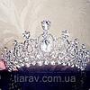 Тиара диадема и серьги АРВЕН набор украшений Тиара Виктория свадебная бижутерия аксессуары для волос, фото 6