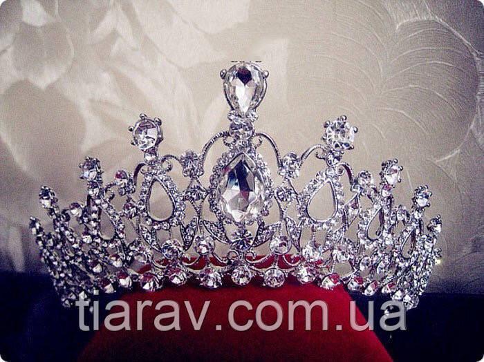 Диадема Арвен тиара для волос, корона свадебная бижутерия
