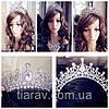 Диадема Арвен тиара для волос, корона свадебная бижутерия, фото 5