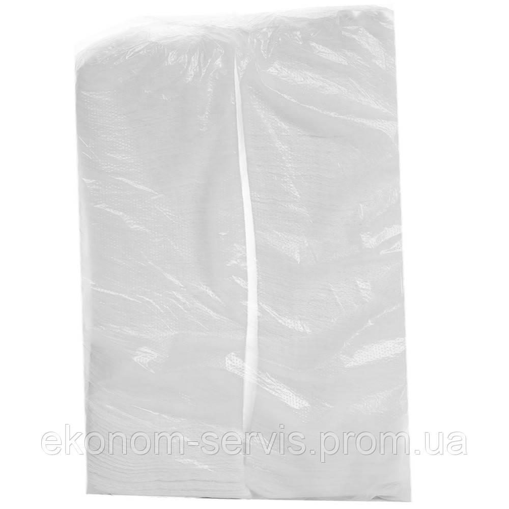 Серветка барна 24 біла 1-слойні 500шт в пачці (повне тиснення)