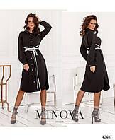 Платье №2077-черный черный/42-44, 46-48, 50-52, 54-56, 58-60, 62-64,
