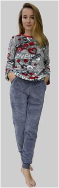 Пижама женская детская теплая плюшевая махровая флис Wiktoria виктория 922