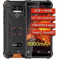 Смартфон противоударный Oukitel WP5 PRO 4GB/64Gb, 8000mAh, 8 ядер, IP68, IP69, Face ID, Touch ID