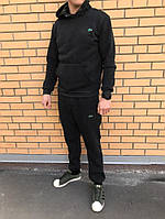 Трикотажный спортивный костюм Lacoste (Черный)