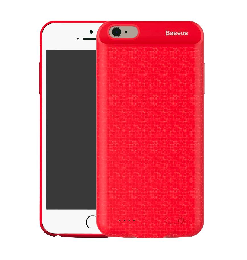 Чехол-аккумулятор Baseus Plaid Backpack Power Case (ACAPIPH7-LBJ09) для iPhone 7 / 8 Red (5000Mah)