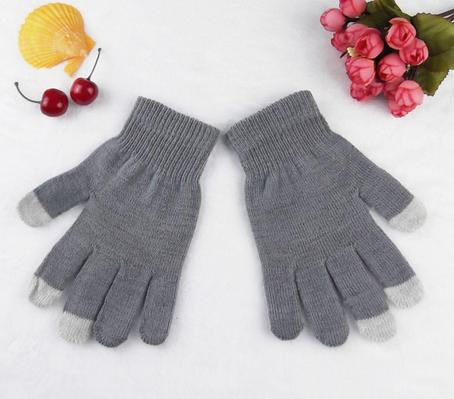 Перчатки для сенсорных экранов (серые)