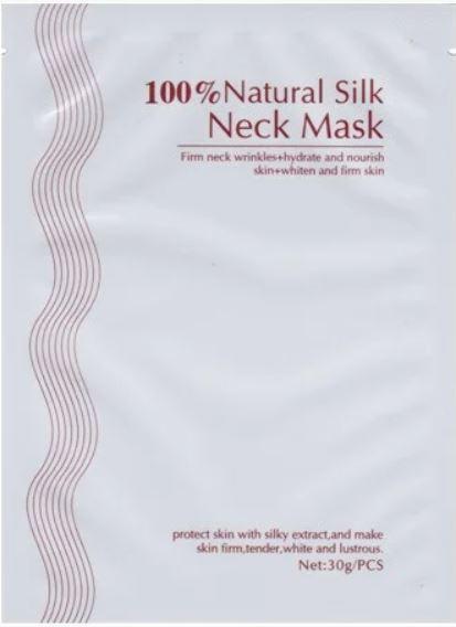 Шелковая маска для шеи 100% Natural Silk Neck Mask